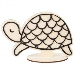 Dřevěná figurka k dotvoření - želva