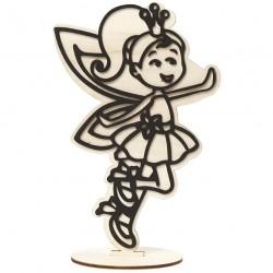 Dřevěná figurka k dotvoření - víla