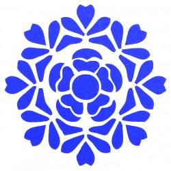 Plastová šablona - květinová rozeta, S8