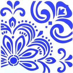 Plastová šablona - květinový ornament, S7