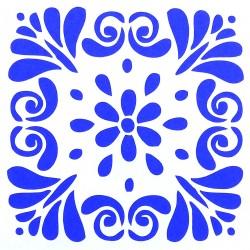 Plastová šablona - květinová rozeta, S6