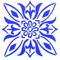 Plastová šablona - květinová rozeta, S5