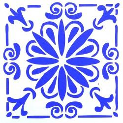 Plastová šablona - květinová rozeta, S4