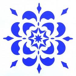 Plastová šablona - květinová rozeta, S3