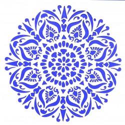 Plastová šablona - květinová rozeta, S2