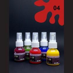 Barva na textil ve spreji - červená, 65 ml