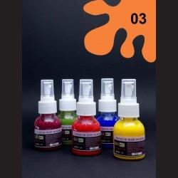 Barva na textil ve spreji - oranžová, 65 ml