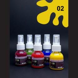 Barva na textil ve spreji - žlutá, 65 ml