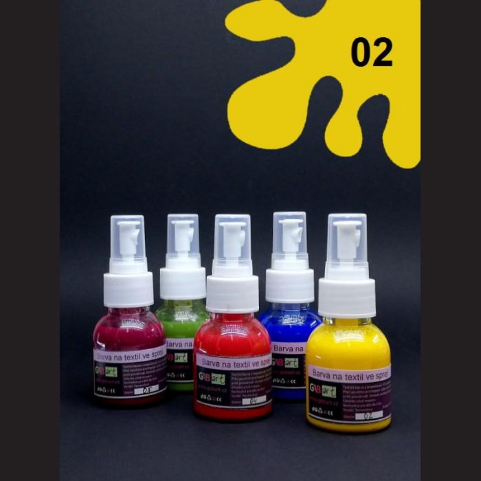 Barva na sv. textil ve spreji - žlutá, 65 ml