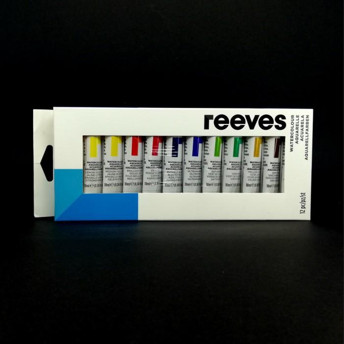 Sada akvarelových barev REEVES, 12 x 10 ml