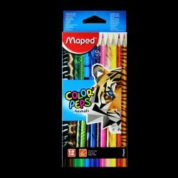 Pastelky Maped Animals, 12 kusů