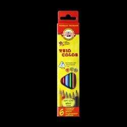 Pastelky KOH-I-NOOR Trio Color, 6 kusů