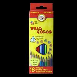 Pastelky KOH-I-NOOR Trio Color, 18 kusů