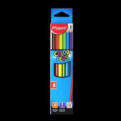 Pastelky Maped Color' Peps, 6 kusů