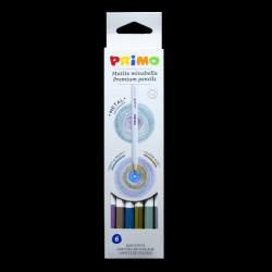 Pastelky PRIMO Metal, 6 kusů