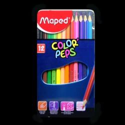 Pastelky v krabičce Maped Color' Peps, 12 kusů