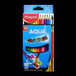 Pastelky akvarelové Maped AQUA, 12 kusů + štětec