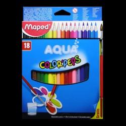 Pastelky akvarelové Maped AQUA, 18 kusů + štětec