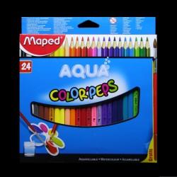 Pastelky akvarelové Maped AQUA, 24 kusů + štětec