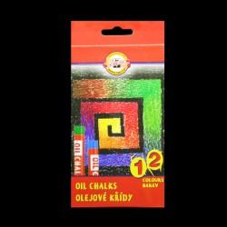 Olejové křídy KOH-I-NOOR, 12 kusů