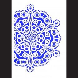 Plastová šablona A4 - ornament, N003V