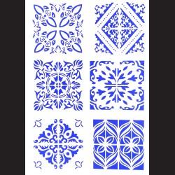 Plastová šablona A4 - ornamenty, N008V