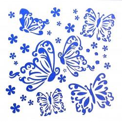 Plastová šablona - motýli, N029M