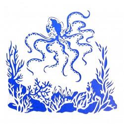 Plastová šablona - chobotnice, N027M