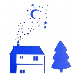 Plastová šablona - dům v noci, N025M