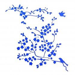 Plastová šablona - ptáci na větvi, N022M