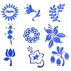 Plastová šablona - květiny, N019M
