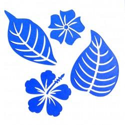 Plastová šablona - květy a listy, N015M