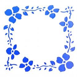 Plastová šablona - květinový rám, N012M