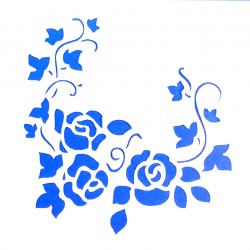 Plastová šablona - růže, N011M