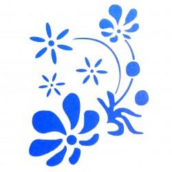 Plastová šablona - květiny, N010M