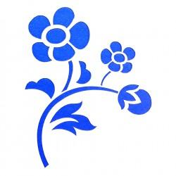 Plastová šablona - květina, N007M
