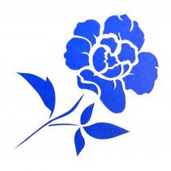Plastová šablona - květina, N006M