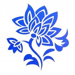 Plastová šablona - květina, N005M