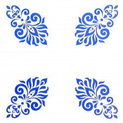 Plastová šablona - ornamenty, N004M