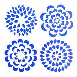 Plastová šablona - květinové rozety, N003M