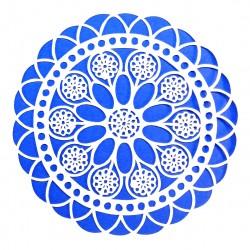 Plastová šablona - květinová rozeta, N002M