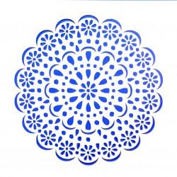 Plastová šablona - květinová rozeta, N001M