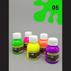 Barva na sv. textil neon - zelená, 65 ml