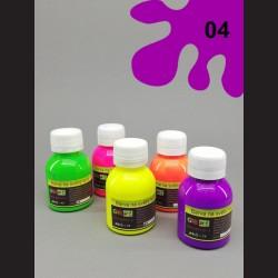 Barva na textil neon - fialová, 65 ml