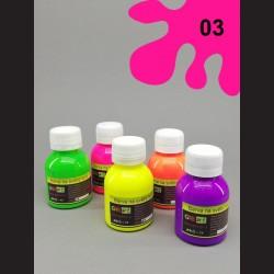 Barva na sv. textil neon - růžová, 65 ml
