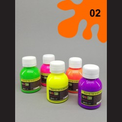 Barva na sv. textil neon - oranžová, 65 ml