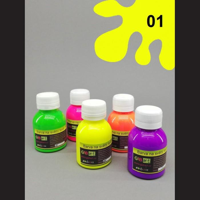 Barva na sv. textil neon - žlutá, 65 ml