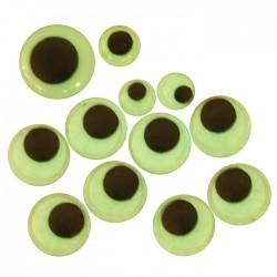 Samolepicí dekorační oči svítící - různé velikosti, 30 ks