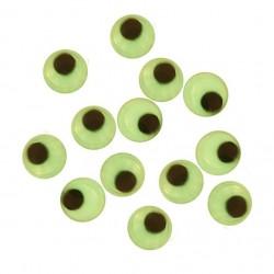 Samolepicí dekorační oči svítící - ⌀ 8 mm, 10 ks