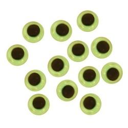 Samolepicí dekorační oči svítící - ⌀ 10 mm, 10 ks